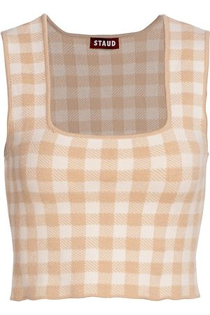 Staud Women's Trial Gingham Cropped Top - - Size XS