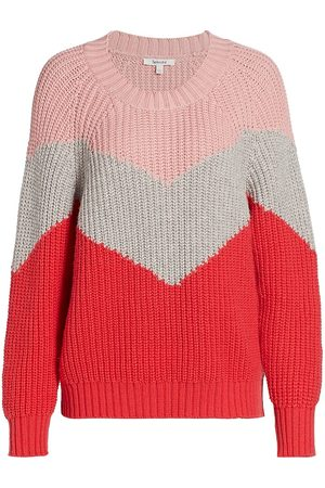 Splendid Women's Loveland Colorblock Chevron Wool-Blend Sweater - - Size XS