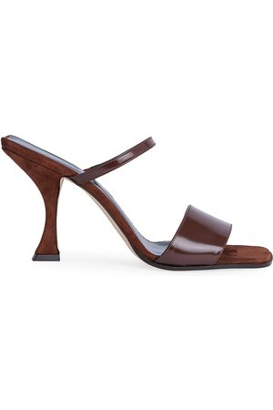 By Far Women's Nayla Patent Leather & Suede Mules - - Size 40 (10)
