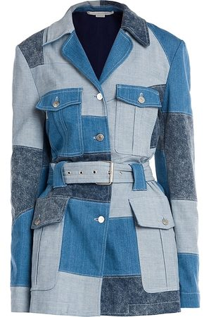 Stella McCartney Women's Patchwork Shades Safari Jacket - - Size 46 (12)