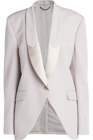 Stella McCartney Women's Aya Wool Twill Tailored Jacket - - Size 38 (4)