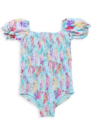 LITTLE PEIXOTO Baby Girl's Harper Smocked One-Piece Swimsuit