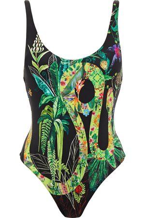 Camilla Woman Crystal-embellished Printed Swimsuit Size L