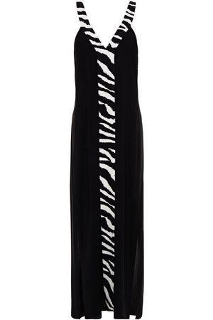 JETS Woman Zebra-print Voile Maxi Dress Size L