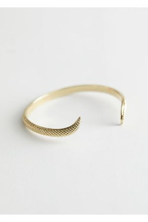 & OTHER STORIES Embossed Snake Cuff Bracelet
