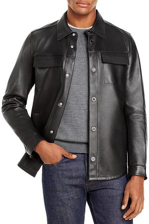 Karl Lagerfeld Leather Shirt Jacket