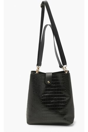 Boohoo Womens Croc Fastening Detail Day Bag - - One Size