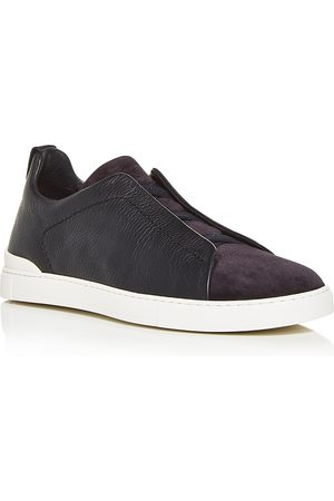 Ermenegildo Zegna Men's Nav Slip On Sneakers