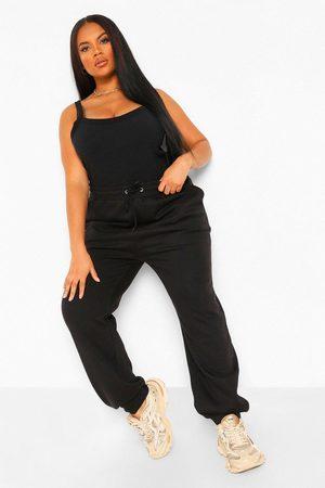 Boohoo Womens Plus Drawstring Rib Waistband And Cuff Jogger - - 12
