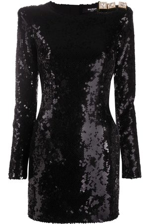Balmain Sequinned fitted dress