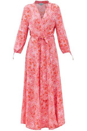 Melissa Odabash Gabby Floral-print Poplin Wrap Dress - Womens