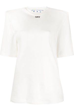 OFF-WHITE Logo-print shoulder pad T-shirt