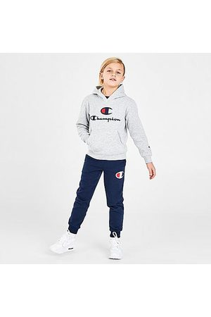 Champion Boys' Toddler and Little Kids' Big C Pullover Hoodie and Jogger Pants Set in Grey/ Size 2 Toddler Knit