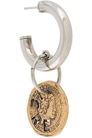 Acne Studios Vintage coin hoop single earring