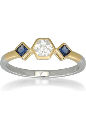 V by Laura Vann Esme 18kt gold-plated sterling silver ring