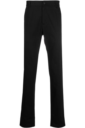 VERSACE Embroidered logo tailored trousers