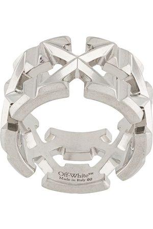 OFF-WHITE Logo arrow ring
