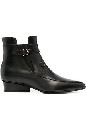 Salvatore Ferragamo Gancini-detail 35mm ankle boots