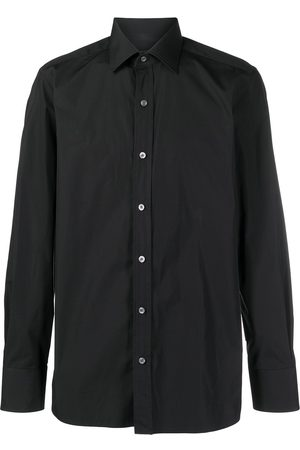 TOM FORD Men Long sleeves - Long-sleeved cotton shirt