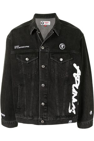 AAPE BY *A BATHING APE® Logo printed denim jacket