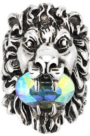 Gucci Men Rings - Crystal -embellished lion head ring
