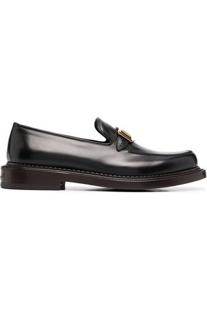 Salvatore Ferragamo Gancini and stud leather loafers