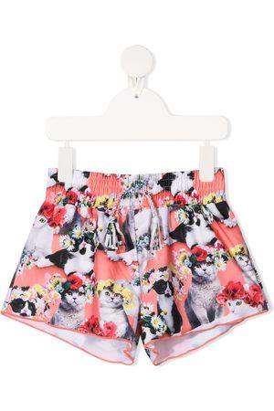 Molo Flower power cat-print swim shorts