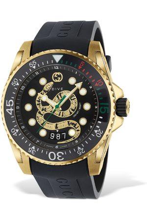 Gucci 45mm Dive Xl Snake Motif Watch