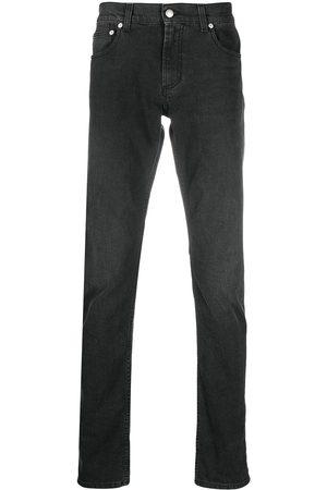 Alexander McQueen Logo embroidered slim jeans
