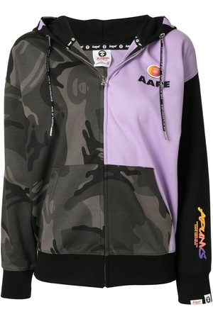 AAPE BY *A BATHING APE® Women Hoodies - Camouflage-print zip-up hoodie