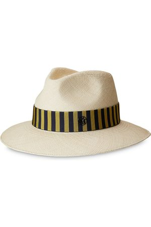 Le Mont St Michel Rico stripe-band sun hat - Neutrals