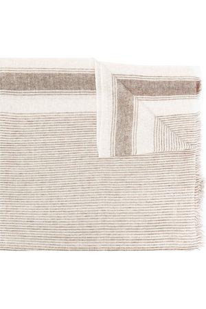 Brunello Cucinelli Striped knit scarf - Neutrals