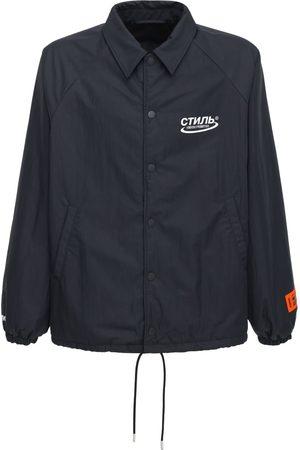 Heron Preston Ctnmb Halo Print Nylon Coach Jacket