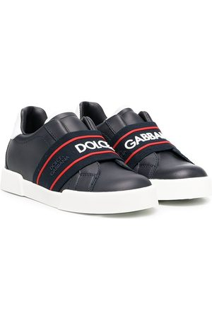 Dolce & Gabbana Elasticated-strap logo sneakers