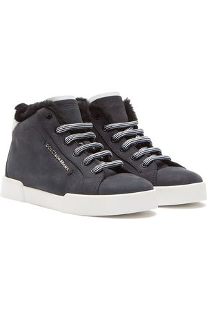 Dolce & Gabbana Furry ankle hi-top sneakers