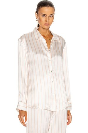 ASCENO The London PJ Top in ,Stripes