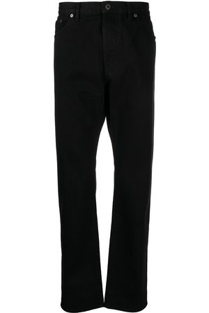 VALENTINO Logo-patch straight-leg jeans