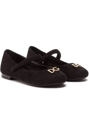 Dolce & Gabbana Logo plaque ballerina shoes