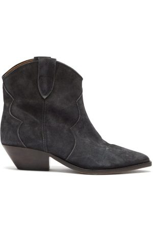 Isabel Marant Dewina Suede Western Ankle Boots - Womens