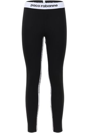 Paco rabanne Women Leggings - Logo Band Stretch Leggings