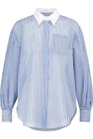 Brunello Cucinelli Striped cotton and silk shirt