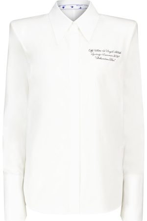 OFF-WHITE Popeline embroidered cotton shirt