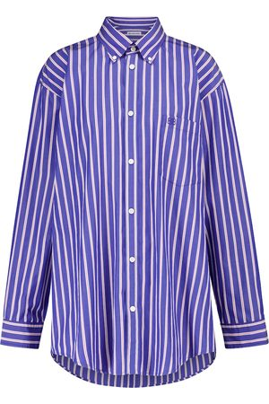 Balenciaga Striped oversized cotton shirt