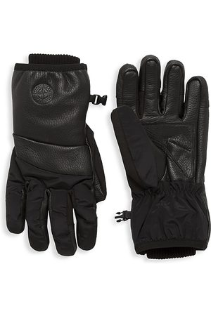 Stone Island Men's Embossed Logo Gloves - - Size Large