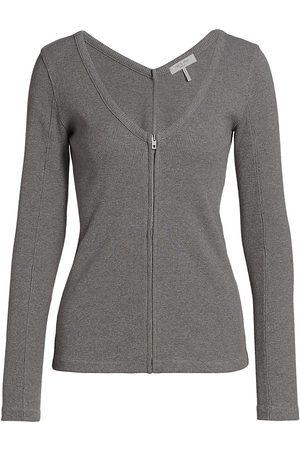 RAG&BONE Women's Laila Zip Long-Sleeve Top - - Size Medium
