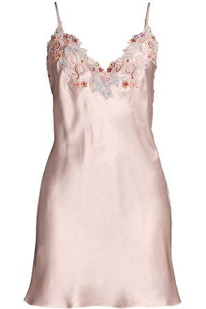 La Perla Women's Maison Lace Satin Silk Sleep Dress - - Size Large