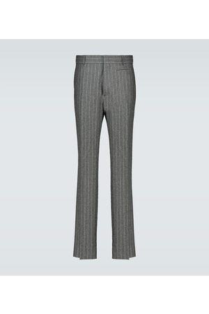 Fendi Flannel pinstriped pants