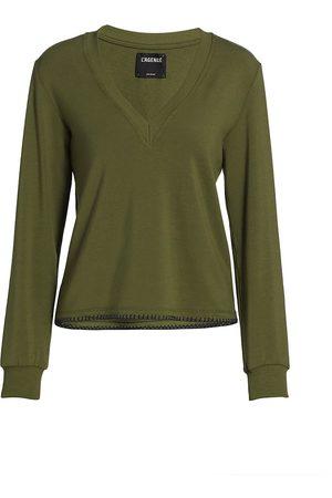L'Agence Women's Helena V-Neck Sweatshrt - - Size XS