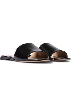 Gianvito Rossi Capri flat leather sandals