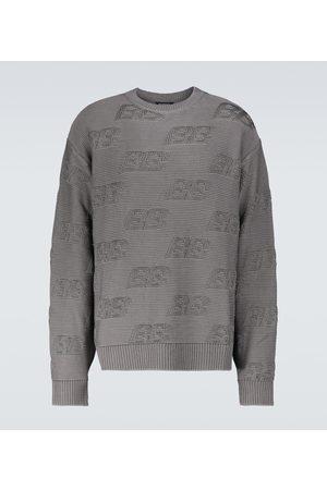 Balenciaga BB all-over crewneck sweater
